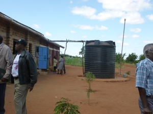 Water tank at secondary school 2013